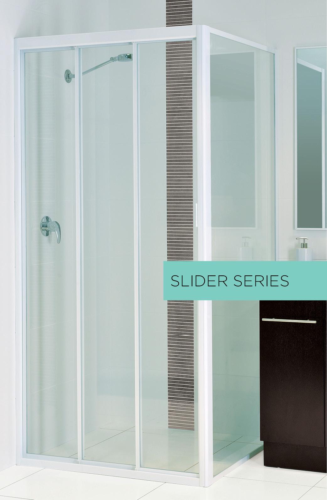 fully framed sliding shower door