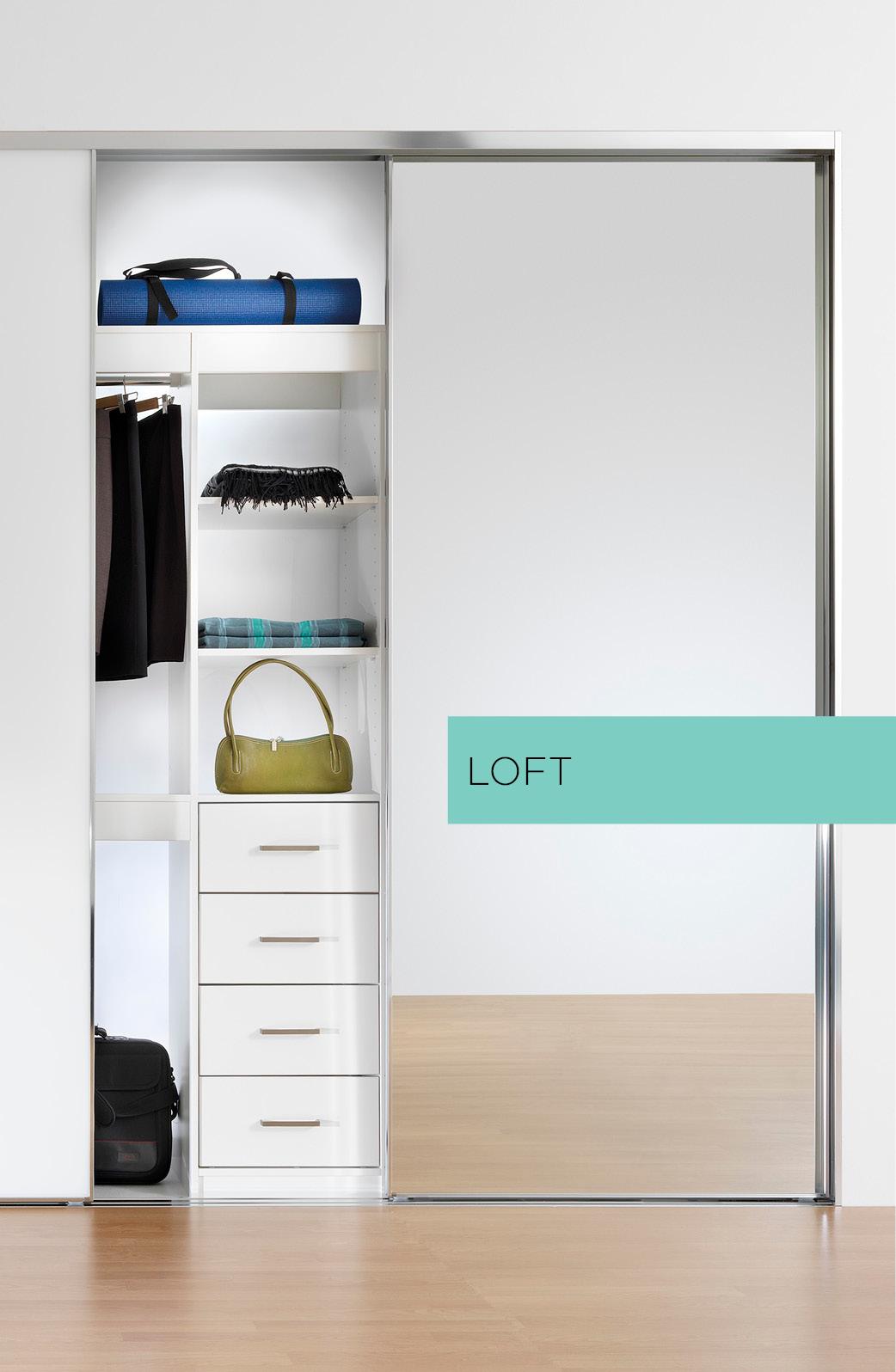 Loft wardrobe door system
