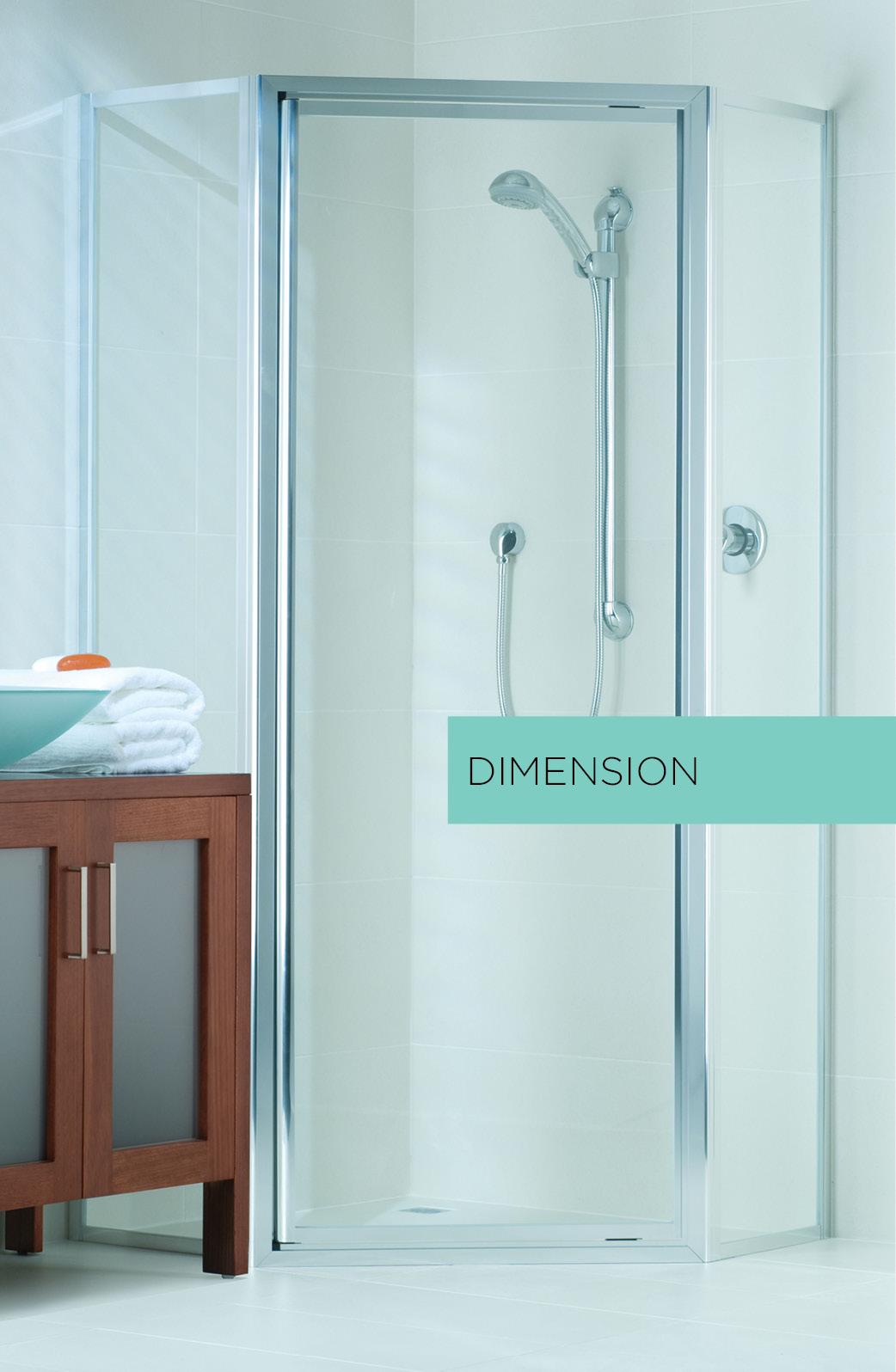 Dimension framed shower enclosure