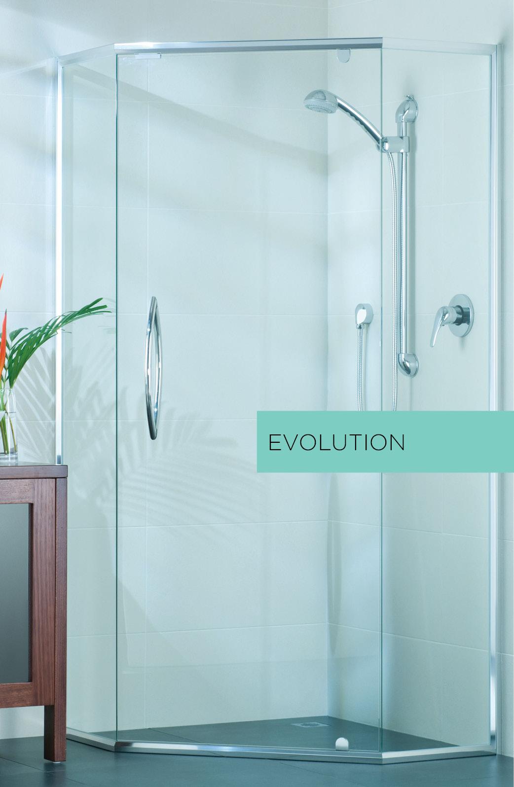 Evolution semi framed shower door system
