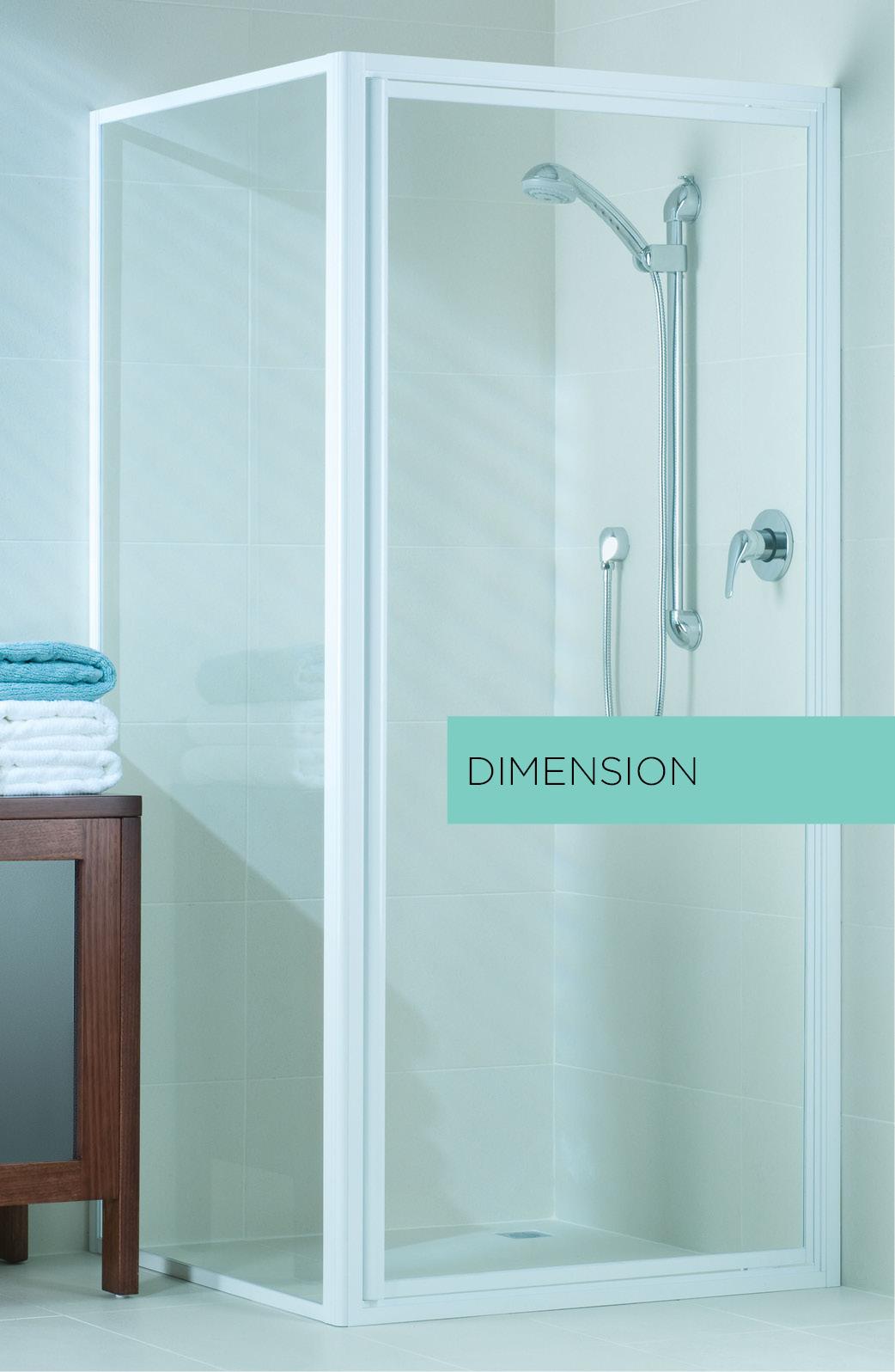 Dimension fully framed shower screen
