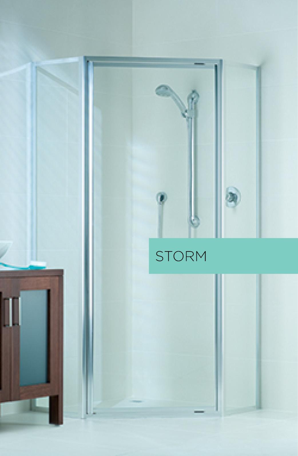 Storm fully framed shower door system