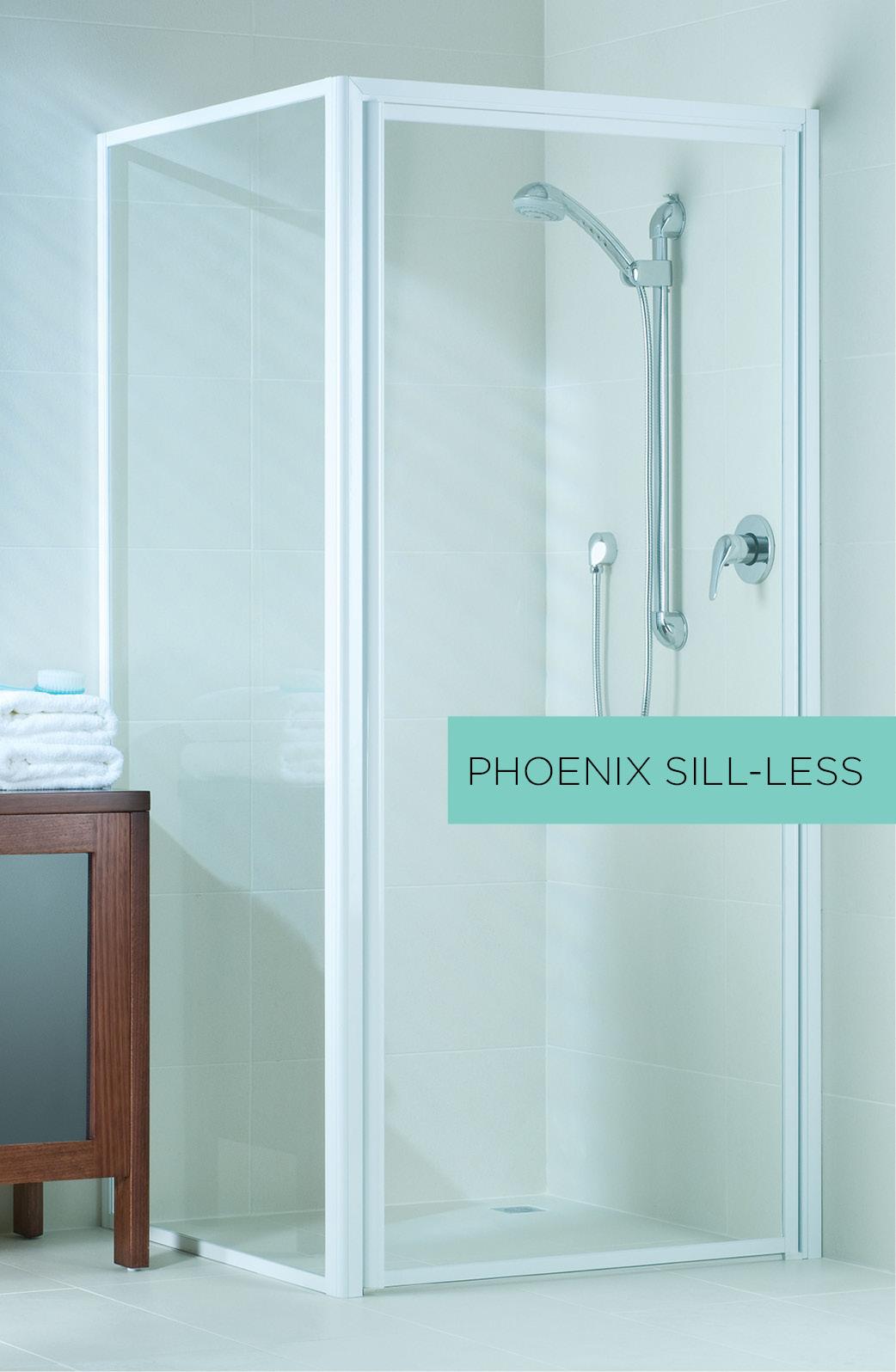 Phoenix sill-less shower door