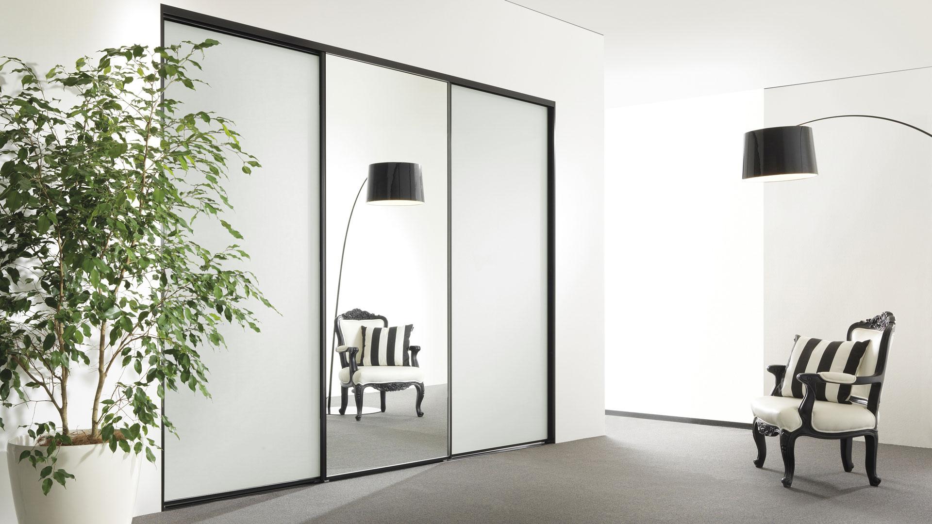 Deco framed wardrobe door system