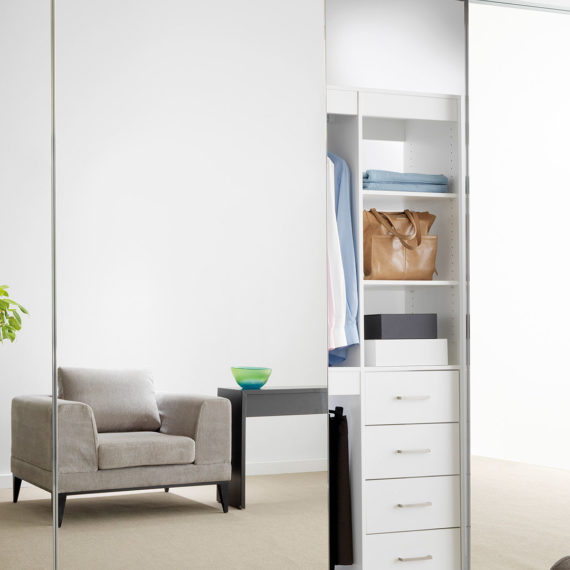 Deco edge wardrobe door system