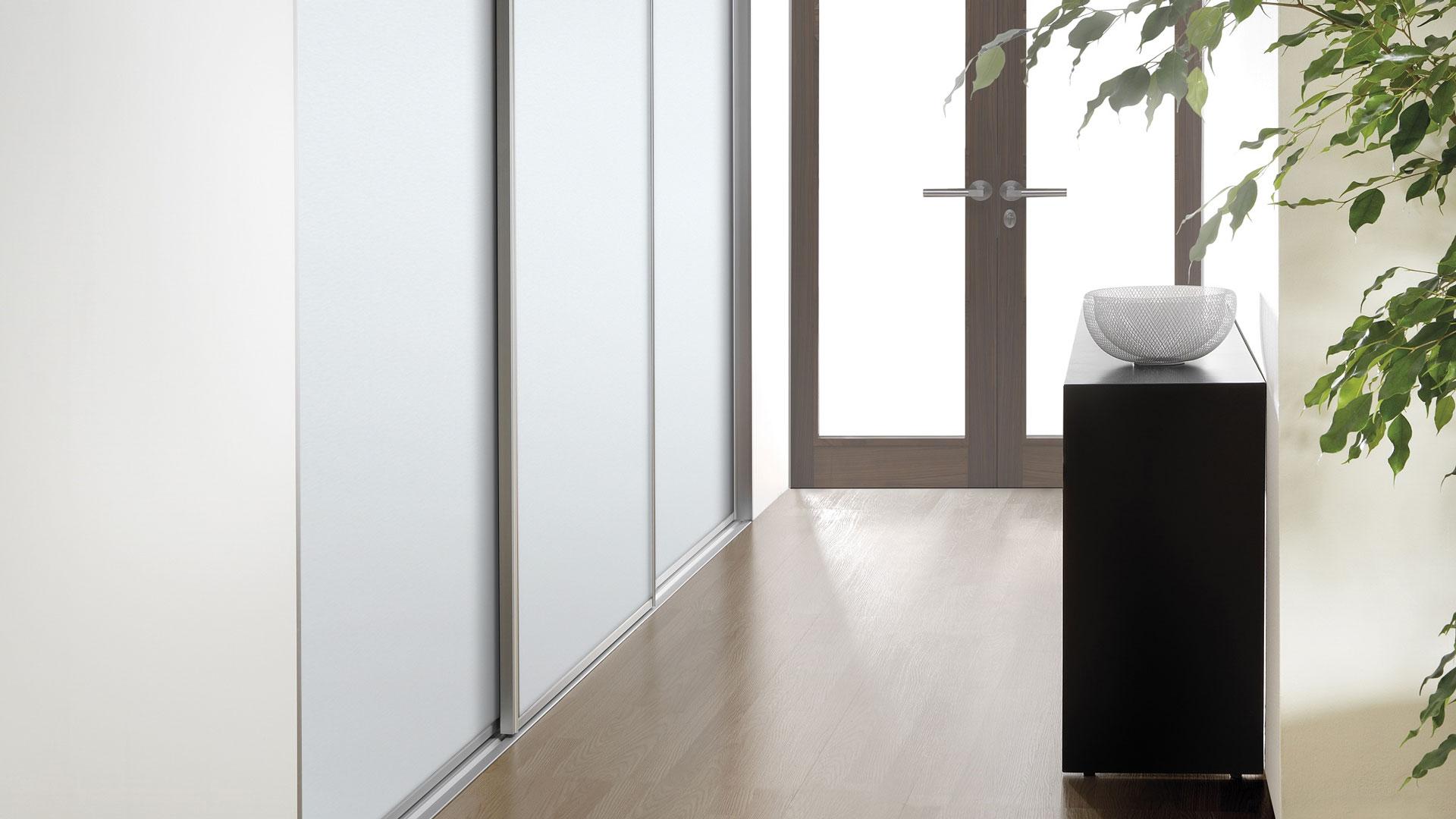 Deco Trim hallway wardrobe door system