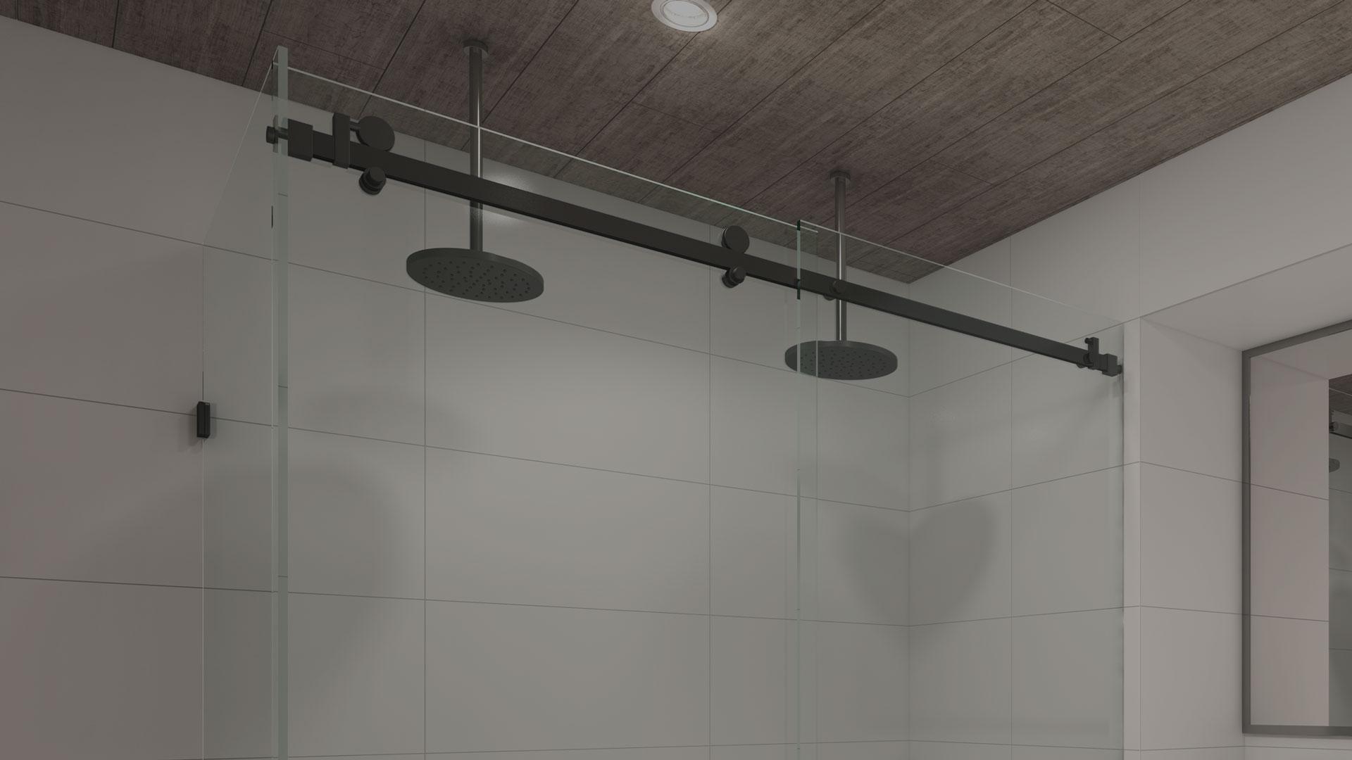 frameless sliding shower screen